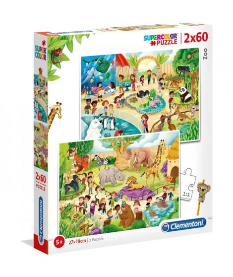 PUZZLES 2x60 pieces - Au zoo
