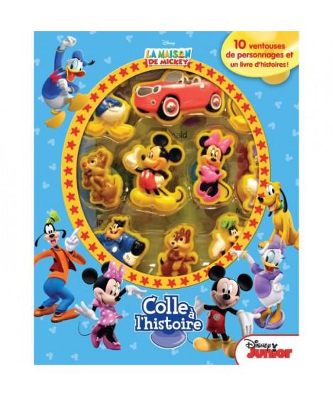 DISNEY MICKEY MOUSE Plus de 10 figurines a ventouse - Livre cartonné de 10 pages - Editions Phidal