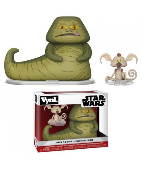 Figurines Funko: Pack de 2 Star Wars: Jabba & Salacious Crumb