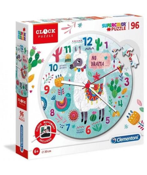 PUZZLE Horloge 96 pieces - Lama No drama
