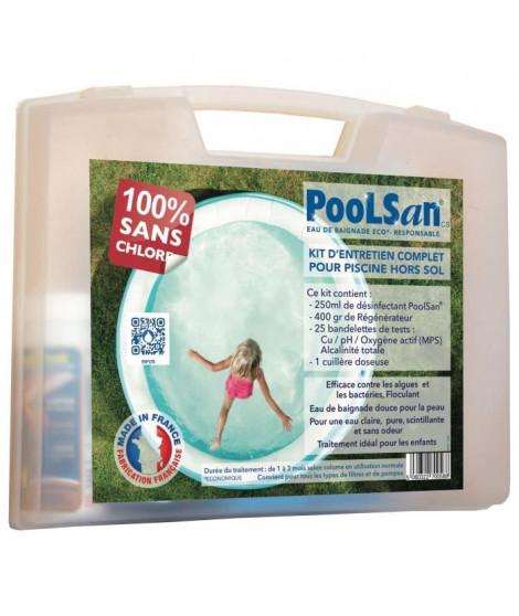 POOLSAN Kit complet de désinfection - 100% sans chlore - Pour piscines hors sol