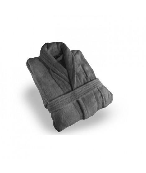 SOLEIL D'OCRE Peignoir éponge Velours - Taille XL - 100% Coton - Gris