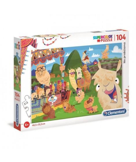 PUZZLE 104 pieces - Le Lama - 48 x 33 cm