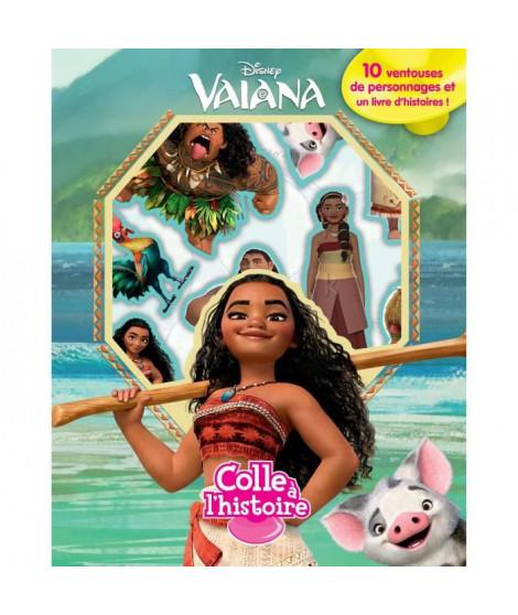 DISNEY VAIANA Plus de 10 figurines a ventouse - Livre cartonné de 10 pages - Editions Phidal