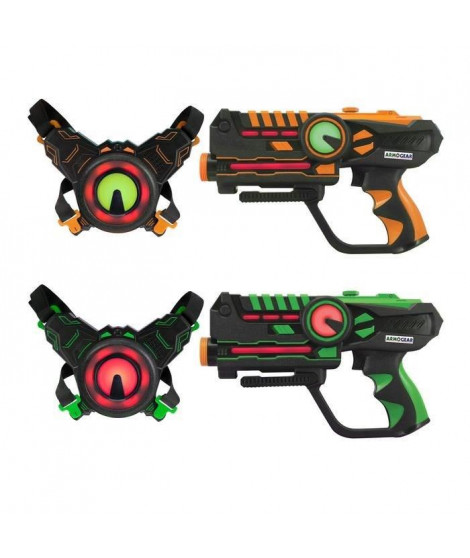 DARPEJE Laser Battle - Set 2 joueurs équipe vert/orange
