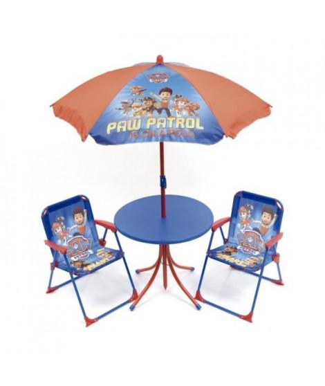 PAT' PATROUILLE Ensemble de jardin / Camping enfant (table, 2 chaises et parasol)