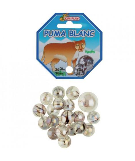 KIM'PLAY 20+1 Billes Puma Blanc