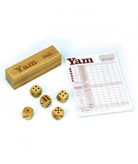JEUJURA Jeu de yam : Coffret en bois et bloc de yam