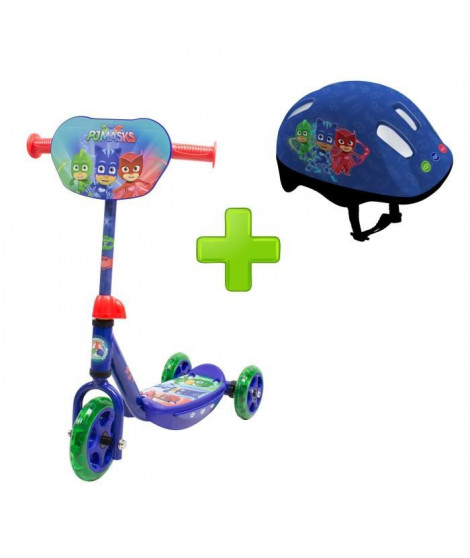 PYJAMASQUES Trottinette 3 roues + Casque Taille.S
