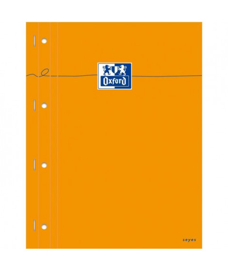 OXFORD Bloc-Notes agrafé - 29,7 cm x 23 cm x 0,9 cm - 160 pages - 80g - Orange