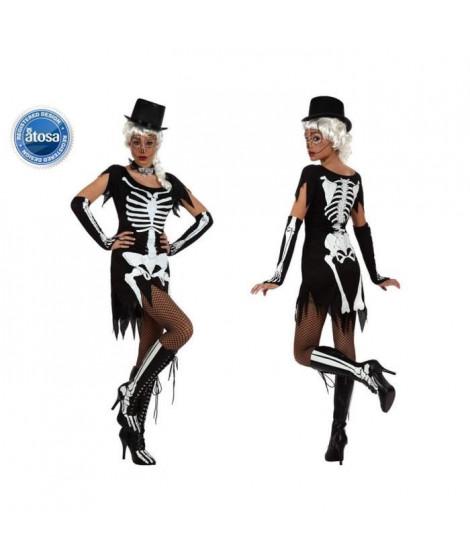 ATOSA Déguisement squelette Femme