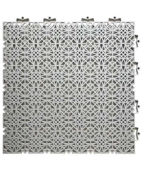 D-C-FLOOR Dalles de sol clipsables - Polypropylene - 38 x 38 x 1 cm - Gris clair