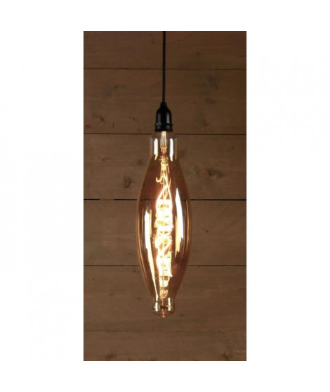 Ampoule LED d'extérieur BOT Retro - Ø12,5 x 40 cm - 4 piles AA