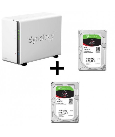 "Pack Synology Serveur NAS Diskstation DS216se DS216se + Disque Dur Seagate NAS HDD Iron Wolf 4To 3,5"" ST4000VN008"
