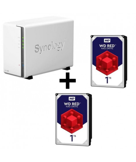 Pack Synology Serveur NAS Diskstation DS216se DS216se + 2 Disques Durs WD Red 1To 64Mo 3.5 WD10EFRX