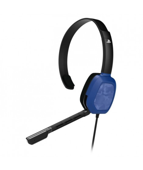 Casque Afterglow Chat LVL1 Camo Bleue pour PS4
