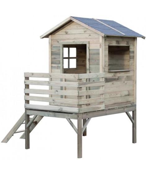 KOOLKIDS Maison cabane en bois sur pilotis - Hauteur 2,05 metres