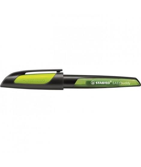 STABILO - 1 Stylo-plume STABILO EASYbuddy plume L spéciale gaucher - noir/jaune