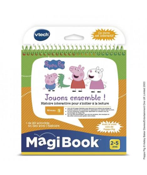 VTECH - Livre Interactif Magibook - Peppa Pig, Jouons Ensemble