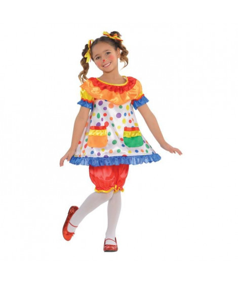 AMSCAN Robe Clown Fille - Robe seule - Enfant