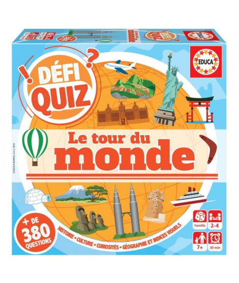 EDUCA  defi quiz - le tour du