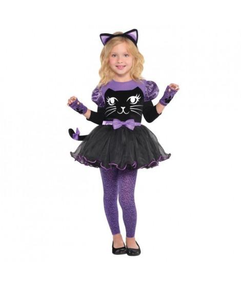 AMSCAN Miss Meow - Costume Fille - Robe et diademe, mitaine et collants