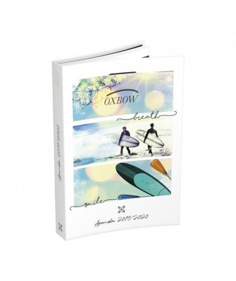 OXBOW Agenda 400118748 - 12 x 17 cm - 1 jour par page - Couverture Souple - 352 P - Décor Surf
