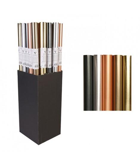 CLAIREFONTAINE Rouleau papier kraft Irise Métal - 2 x 0,7 m - 54 g - 5 motifs assortis sous film