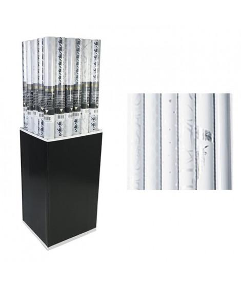 CLAIREFONTAINE Rouleau papier cadeau Premium - 2 x 0,7 m - 80 g / m² - 6 motifs assortis sous film - Blanc