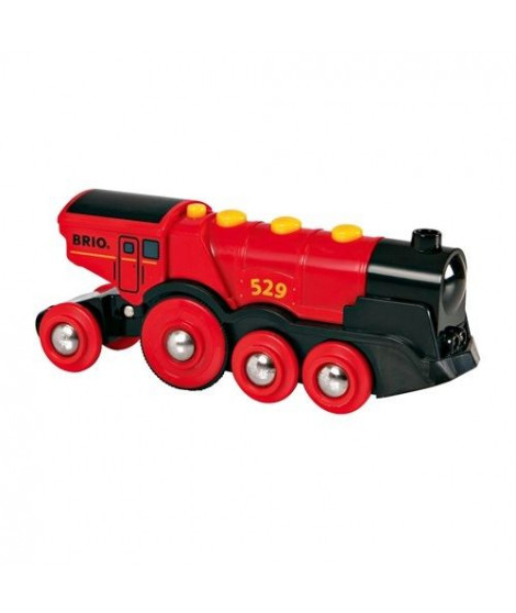 BRIO World  - 33592 - Locomotive Rouge Puissante A Piles - Jouet en bois