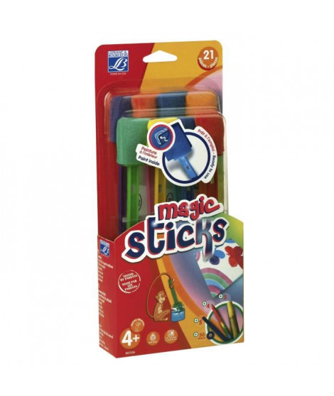 "LEFRANC & BOURGEOIS Kit 8 pinceaux ""Magic Sticks"" éducation"