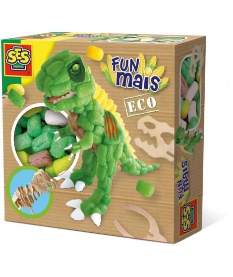 SES CREATIVE Dinosaure en funmais avec squelette en bois - 400 pieces