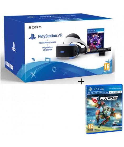 PlayStation VR + PlayStation Caméra + 2 Jeux : VR Worlds + RIGS : Mechanized Combat League