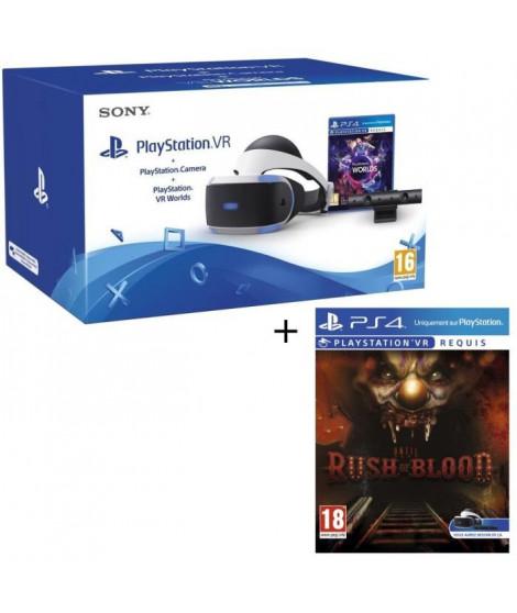 PlayStation VR + PlayStation Caméra + 2 Jeux : VR Worlds + Until Dawn Rush of Blood VR