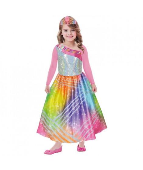 BARBIE Costume Barbie Rainbow Magic  - Robe + Diademe