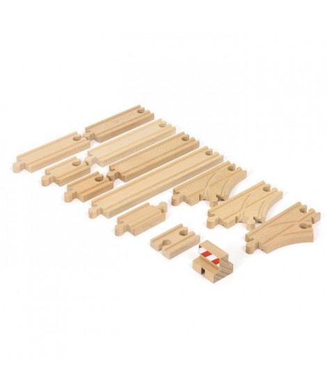 BRIO World  - 33394 - Coffret De Demarrage - 13 Rails - Pack B
