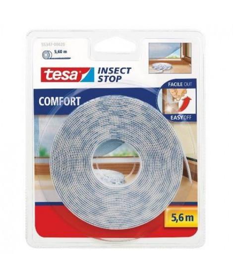 TESA Moustiquaire recharge Comfort - Bande auto-agrippante - 5,6 m x 10 mm - Blanc