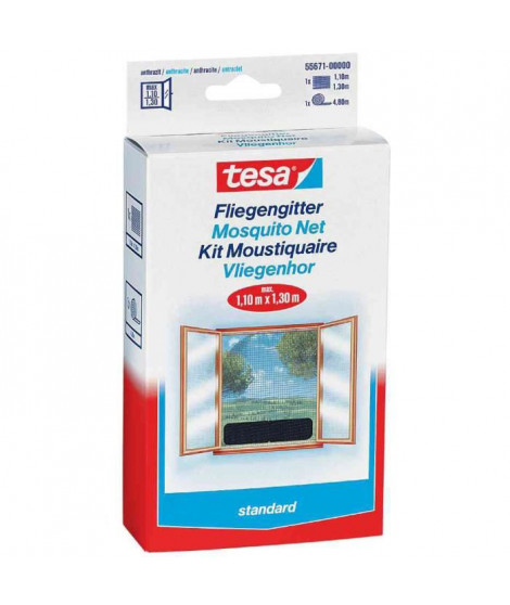 TESA Moustiquaire Standard pour fenetres - 1 m x 1 m - Blanc