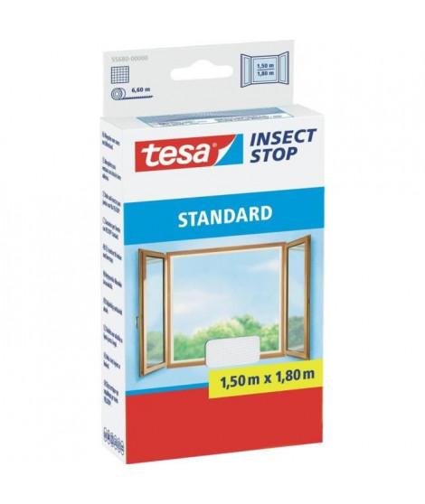 TESA Moustiquaire Standard pour fenetres - 1,5 m x 1,8 m - Blanc