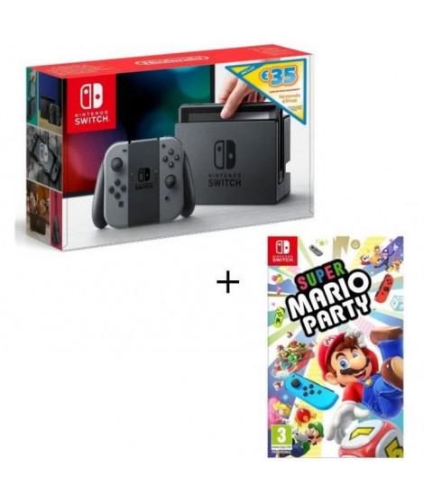Pack Nintendo Switch Grise Edition Limitée + Super Mario Party + code téléchargement 35? Nintendo eShop