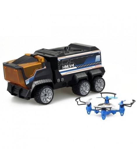 SILVERLIT - Camion Radiocommandé & Drone Mission - 2 en 1 ! 2.4Ghz