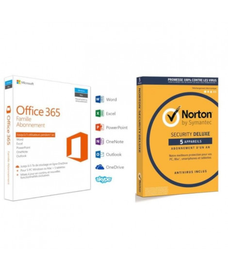 Pack Office 365 Famille + Norton Security 2018