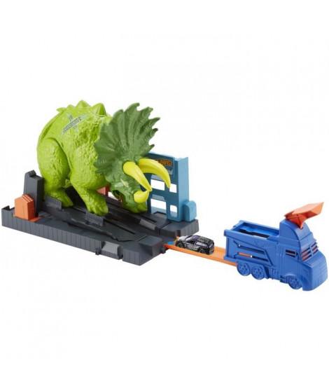 HOT WHEELS CITY - Attaque du Triceratops - Propulseur Petites Voitures Triceratops - 1 voiture Incluse