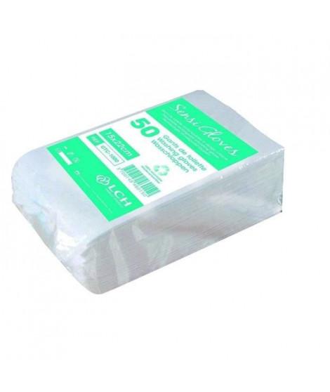 Lots de 100 gants de Toilettes LCH Sensiglove