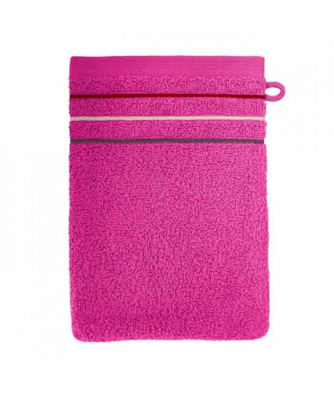SANTENS Lot de 2 gants de toilette Teline Fuchsia 2 x 16x22 cm