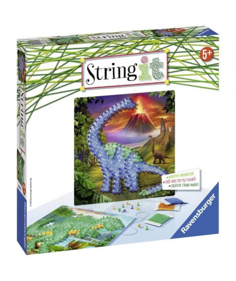 STRING IT midi Dinosaures  Suivez La tendance du String Art ! Ravensburger