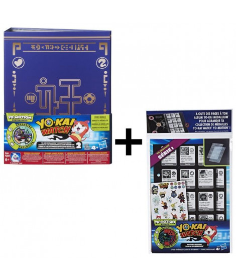 YO-KAI WATCH - Médallium Album Collector Saison 2 + Recharges de Pages