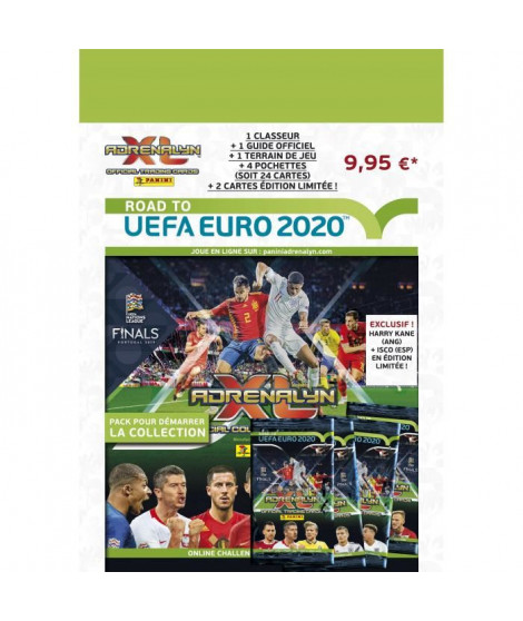 ROAD TO UEFA EURO 2020 TCG Starter-pack (1 classeur + 4 pochettes + 2 cartes EL + 1 guide + 1 terrain de jeu)