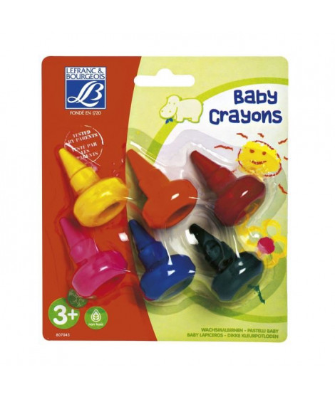 LEFRANC & BOURGEOIS Assortiment baby crayons éducation - 6 crayons