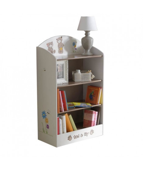 TED ET LILY Etagere 60x30x100 cm - Blanc / beige